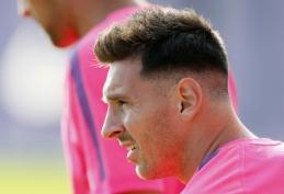 "L.Messi grįžo į ""Barcelona"" treniruotes"