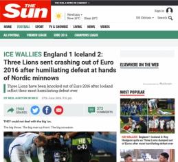 Anglijos spauda - apie pralaimėjimą