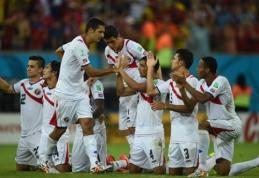 Kosta Rika po baudinių serijos pateko į istorinį pasaulio čempionato ketvirtfinalį (VIDEO)