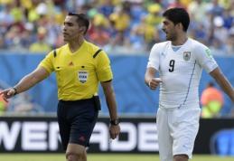 L.Suarezo įkandimą pro akis praleidęs M.Rodriguezas baigė teisėjo karjerą
