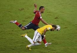 Neymarą traumavęs J.Zuniga sulaukė grasinimų mirtimi
