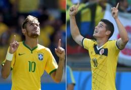 """Neymaras prieš mačą su Kolumbija: """"Tai nebus kova tarp manęs ir J.Rodriguezo"""""""