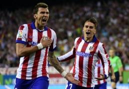 """Madrido """"Atletico"""" palaužė """"Real"""" futbolininkus ir triumfavo Ispanijos Supertaurėje (VIDEO)"""