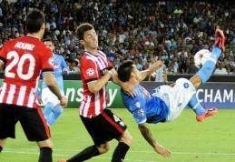 """Čempionų lygos atranka: """"Arsenal"""" neįveikė turkų, """"Napoli ir """"Athletic Bilbao"""" išsiskyrė taikiai"""