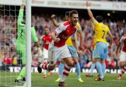 """A.Ramsey įvartis išplėšė """"Arsenal"""" klubui pergalę prieš """"Crystal Palace"""" (VIDEO)"""