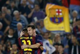 Neymaras: Messi mąsto greičiau negu visi kiti
