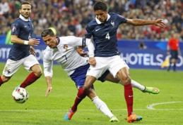 Prancūzijos rinktinė draugiškose rungtynėse nugalėjo portugalus (VIDEO)