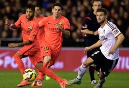 """""""Barcelona"""" Valensijoje išplėšė dramatišką pergalę, """"Atletico"""" neturėjo vargo (VIDEO)"""