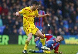 """""""Liverpool"""" krachas tęsiasi - išvykoje pralaimėta """"Crystal Palace"""" (VIDEO)"""