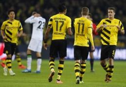 """""""Borussia"""" po penkių pralaimėjimų iš eilės nukovė """"Gladbach"""" futbolininkus (VIDEO)"""