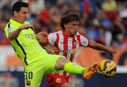 """""""Barcelona"""" išvykoje turėjo vargo su """"Almeria"""", """"Real"""" nepaliko jokių vilčių """"Rayo"""" ekipai (VIDEO)"""