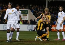 """FA taurė: """"Man Utd"""" nesugebėjo įveikti """"League Two"""" komandos (VIDEO)"""