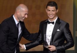"""Z.Zidane'as: C.Ronaldo laimės daugiau """"Auksinių kamuolių"""" nei L.Messi"""