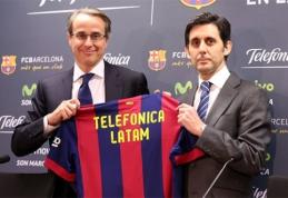"""""""Telefonica"""" tapo """"Barcelona"""" partnere ir rėmėja Lotynų Amerikos rinkoje"""