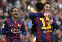 """L.Messi """"hat-trickas"""" nulėmė triuškinančią """"Barcos"""" pergalę, """"Atletico"""" pralaimėjo (VIDEO)"""