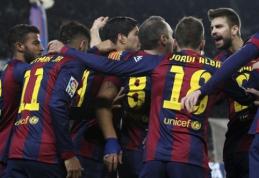 """Karaliaus taurės pusfinalyje - """"Barcelona"""" pergalė prieš """"Villarreal"""" (VIDEO)"""