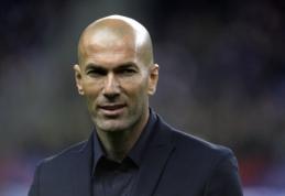 Z. Zidane'as įvardijo sunkiausiai įveikiamą savo varžovą