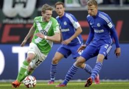 """""""Wolfsburg"""" ir """"Schalke"""" išsiskyrė taikiai, """"Werder"""" iškovojo pergalę (VIDEO)"""