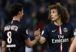 """D.Luizas ir T.Motta praleis Čempionų lygos ketvirtfinalio rungtynes prieš """"Barca"""""""