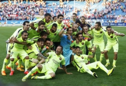 """""""Barcelona"""" futbolininkai - naujieji Ispanijos čempionai (VIDEO)"""