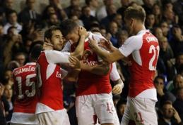 """""""Arsenal"""" iš Anglijos lygos taurės eliminavo """"Tottenham"""" klubą (VIDEO)"""
