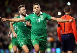 Airija patiesė bosnius ir trečią kartą žais Europos čempionate (VIDEO)