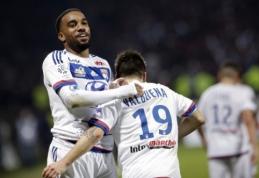 """Lyon"" pergalę atnešė A. Lacazette'o hat-trickas, ""Marseille"" bei ""Monaco"" patyrė nesėkmes"