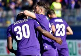 """""""Fiorentina"""" pakilo į pirmąją vietą, """"Milan"""" svečiuose įveikė """"Lazio"""" (VIDEO)"""