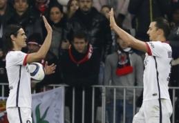 Puolėjų duetas atvedė PSG į pergalę Nicoje (VIDEO)