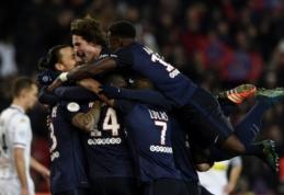 """Ligue 1: PSG sumindė """"Angers"""", o """"Nice"""" pakilo į antrąją vietą (VIDEO)"""