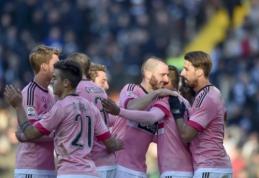 """""""Juventus"""" per pirmąjį kėlinį susitvarkė su """"Udinese"""", """"Milan"""" nugalėjo """"Fiorentina"""" (VIDEO)"""