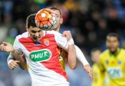 """""""Monaco"""" Prancūzijos taurėje pralaimėjo """"Ligue 2"""" autsaideriui"""