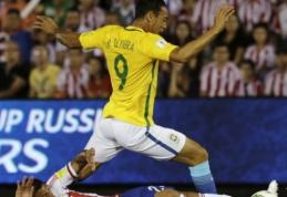 PČ atrankoje brazilai vos išsigelbėjo su Paragvajumi, Argentina nugalėjo Boliviją (VIDEO)