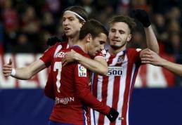 """""""Atletico"""" dėl titulo dar žada pakovoti - namuose sutriuškintas """"Real Sociedad"""" klubas (VIDEO)"""