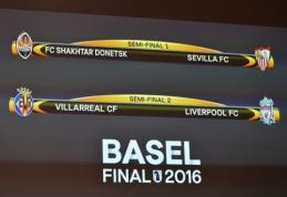 "Europos lygos pusfinalio burtai: ""Liverpool"" laukia dvikova su ""Villarreal"", ""Sevilla"" žais su ""Shakhtar"""
