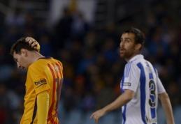 """Intriga Ispanijoje grįžta: """"Barca"""" suklupo San Sebastiane, Madrido klubai mažina atsilikimą (VIDEO)"""
