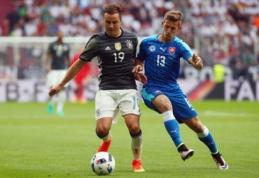 Draugiškos rungtynės: vokiečiai sulaukė slovakų antausio, ispanai nugalėjo bosnius (VIDEO)