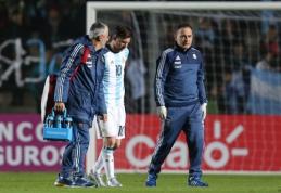 Pergalingose Argentinos rinktinės rungtynėse - L. Messi trauma (VIDEO)