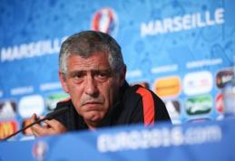 F. Santosas: Portugalijos ir Lenkijos šansai žengti į pusfinalį yra vienodi
