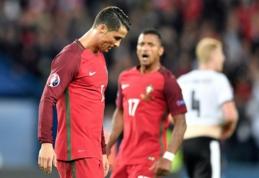 Tragiška C. Ronaldo naktis: nerealizuotas 11 m. baudinys ir dar vienos portugalų lygiosios (VIDEO, FOTO)