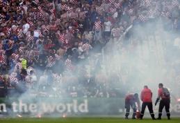 Sirgalių kiaulystė sugadino kroatams rungtynes prieš čekus (FOTO, VIDEO)
