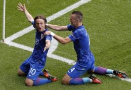 Pirmąją pergalę D grupėje šventė Turkiją įveikusi Kroatija (FOTO, VIDEO)