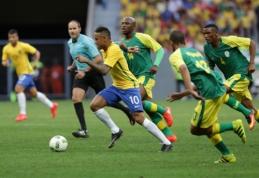 Olimpinis futbolas: brazilai nesugebėjo palaužti dešimtyje žaidusios PAR rinktinės (VIDEO)
