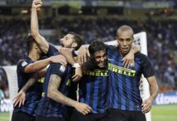 """""""Inter"""" atsitiesė po praleisto įvarčio ir nugalėjo """"Juventus"""", M. Badeljo šūvis parklupdė """"Roma"""" (VIDEO)"""