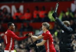 """""""Man Utd"""" žais Anglijos lygos taurės pusfinalyje, """"Arsenal"""" savo pasirodymą jau baigė (VIDEO, + burtai)"""