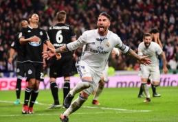 """Stebuklus kuriantis S. Ramosas vėl paskutinėmis minutėmis atvedė """"Real"""" į rekordinę pergalę Ispanijoje (VIDEO)"""