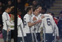 """""""Hull City"""" iškovojo pergalę, tačiau į Anglijos lygos taurės finalą žengė """"Man Utd"""""""