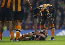 """""""Hull City"""" saugas R. Masonas patyrė kaukolės lūžį"""