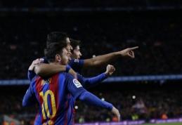 """""""Barcelona"""" prasibrovė į Karaliaus taurės ketvirtfinalį (VIDEO)"""