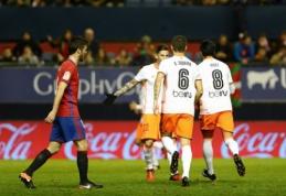 """""""Valencia"""" rungtynių pabaigoje išleido pergalę prieš """"Osasuna"""" (VIDEO)"""